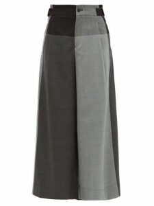 Issey Miyake - Colour-block Wool-twill Trousers - Womens - Grey