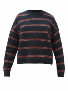 Acne Studios - Khira Striped Sweater - Womens - Blue Multi