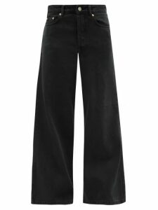 Raey - Stride Wide-leg Jeans - Womens - Black