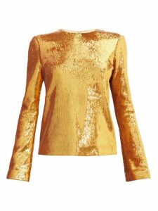 Galvan - Gilded Clara Sequinned Blouse - Womens - Bronze