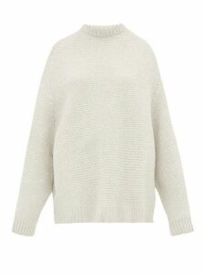 Raey - Crew Neck Basketweave Wool Sweater - Womens - Ivory