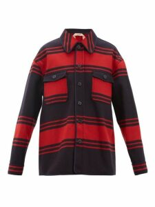 No. 21 - Striped Wool Blend Jacket - Womens - Red Navy
