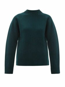A.p.c. - Janet Wool-blend Sweater - Womens - Dark Green