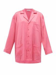 Balenciaga - Oversized Satin Pyjama Shirt - Womens - Pink