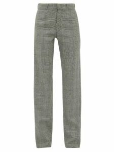 Vetements - Houndstooth Tailored Twill Trousers - Womens - Grey