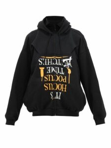 Vetements - Halloween Print Cotton Jersey Hooded Sweatshirt - Womens - Black Multi