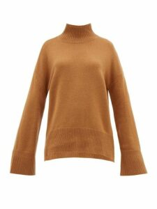 Frame - High Neck Cashmere Sweater - Womens - Camel