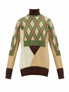 Preen By Thornton Bregazzi - Charlie Layered Wool-blend Sweater - Womens - Green Multi
