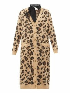 Redvalentino - Leopard-jacquard Cotton-blend Cardigan - Womens - Multi