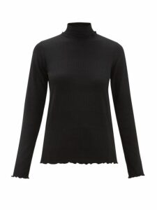 A.p.c. - Angele Roll-neck Stripe-jacquard Sweater - Womens - Black