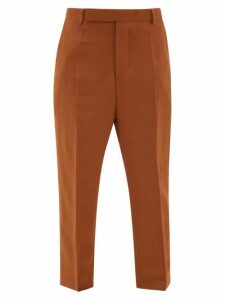Rick Owens - Easy Astaires High-rise Crepe Trousers - Womens - Brown