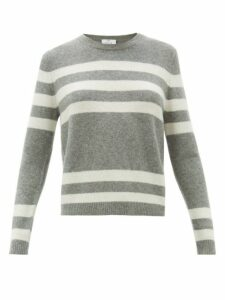 Allude - Striped Cashmere-blend Sweater - Womens - Grey Multi