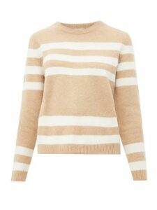 Allude - Striped Cashmere-blend Sweater - Womens - Brown Multi