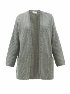 Allude - Rib-knitted Cashmere Cardigan - Womens - Grey