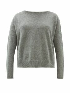 Allude - Boat-neck Cashmere Sweater - Womens - Grey