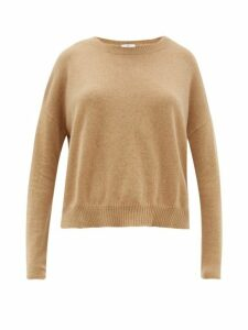 Allude - Boat-neck Cashmere Sweater - Womens - Camel