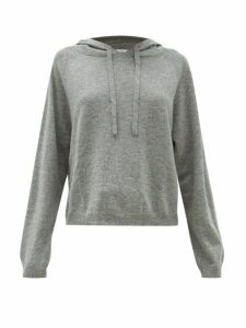 Allude - Hooded Virgin Wool Blend Sweatshirt - Womens - Grey
