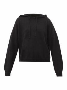 Allude - Wool Blend Hooded Sweater - Womens - Black
