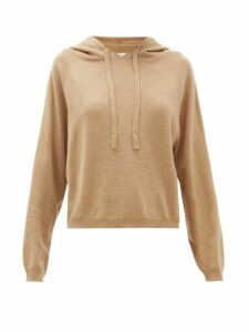 Allude - Hooded Wool Blend Sweatshirt - Womens - Camel