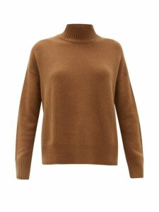 Allude - High-neck Cashmere Sweater - Womens - Camel