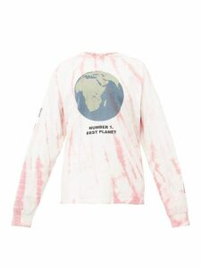 Story Mfg - Grateful Tie Dye Cotton Sweatshirt - Womens - Pink White
