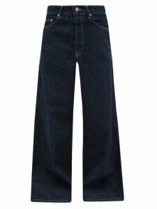 Raey - Stride Wide-leg Jeans - Womens - Indigo