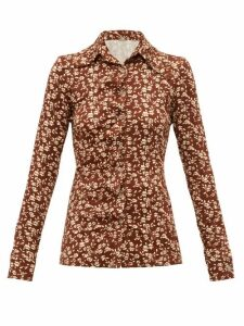 Dodo Bar Or - Paya Floral-print Shirt - Womens - Brown White