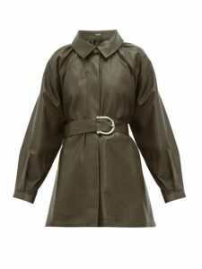 Dodo Bar Or - Berry Belted Leather Jacket - Womens - Khaki