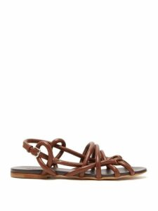 Jil Sander - Caged Rope Strap Leather Sandals - Womens - Tan