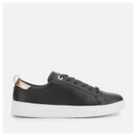 Ted Baker Women's Gielli Leather Low Top Trainers - Black/Black