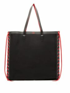 Christian Louboutin - Cabalace Oversized Canvas Tote Bag - Womens - Black Red