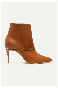 Jennifer Chamandi - Nicolò 85 Suede And Leather Ankle Boots - Tan