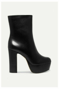 Cult Gaia - Kira Leather Platform Ankle Boots - Black