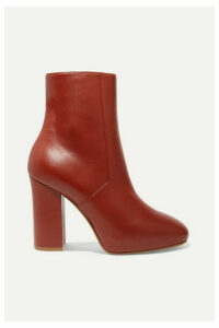 Dries Van Noten - Leather Ankle Boots - Brick