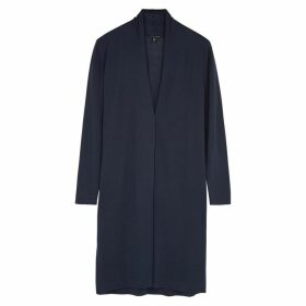 EILEEN FISHER Navy Fine-knit Cardigan