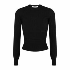 Givenchy Black Cut-out Wool-blend Jumper