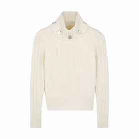 Alexander McQueen Ivory Knitted Wool Jumper