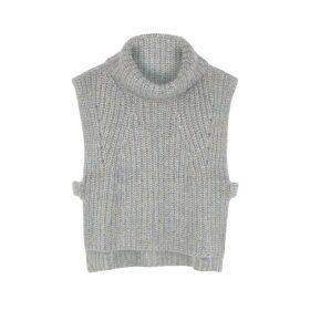 Isabel Marant Étoile Grey Sleeveless Wool-blend Jumper