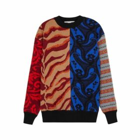 Stella McCartney Panelled Intarsia Wool Jumper