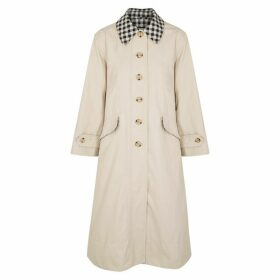 Barbour X Alexa Chung Glenda Stone Cotton-blend Trench Coat