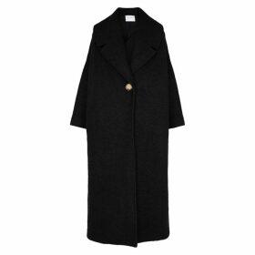 Mariam Al Sibai Black Oversized Bouclé Wool-blend Coat