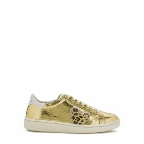 MOA Master Of Arts X Disney Grandmaster Gold Leather Sneakers