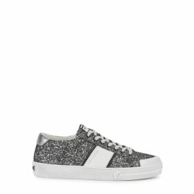 MOA Master Of Arts Playtricks Glittered Leather Sneakers