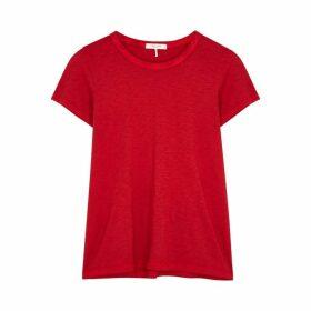 Rag & Bone The Tee Red Pima Cotton T-shirt