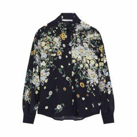 Givenchy Floral-print Silk Shirt