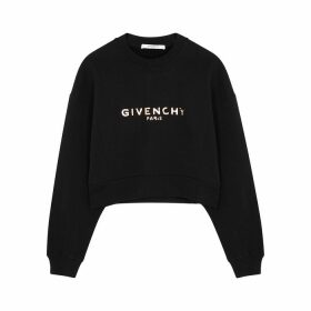 Givenchy Black Logo-print Cotton Sweatshirt