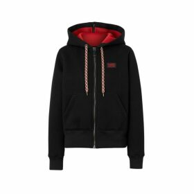Burberry Logo Applique Neoprene Hooded Top