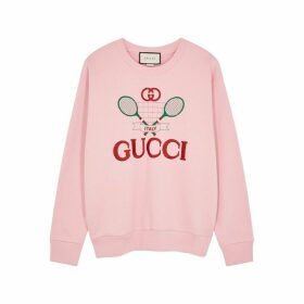 Gucci Pink Embroidered Cotton Sweatshirt