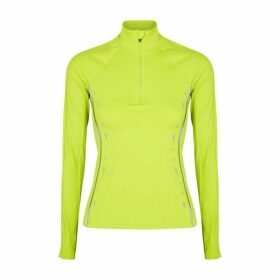 Reebok X Victoria Beckham Neon Yellow Stretch-jersey Top