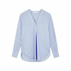 Samsøe & Samsøe Hamilla Light Blue Cotton Shirt